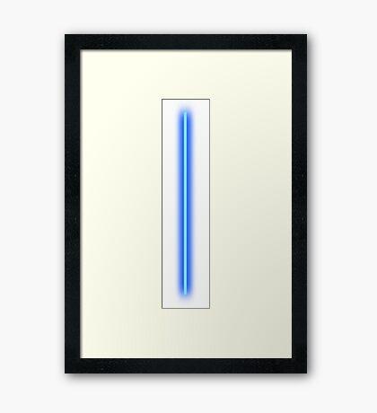 Blue Laser Framed Print