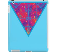 inverted warm neon triangle iPad Case/Skin