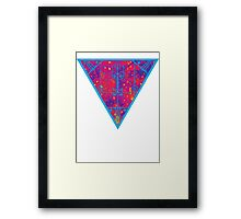 inverted warm neon triangle Framed Print