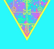 inverted cold neon triangle by HiddenStash