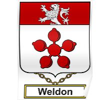 Weldon Coat of Arms (English) Poster