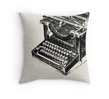 Grunge Vintage Typewriter Throw Pillow