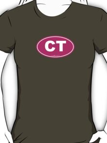 Connecticut CT Euro Oval PINK T-Shirt