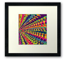 purple pink blue green yellow orange painting abstract background Framed Print