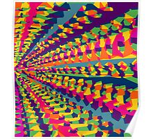 purple pink blue green yellow orange painting abstract background Poster