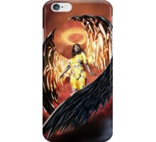 Robot Angel Painting 001 iPhone Case/Skin