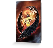 Robot Angel Painting 001 Greeting Card