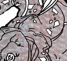 COELACANTH (no background) Sticker