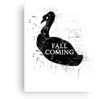 FALL IS COMING (black) Canvas Print