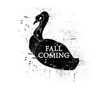 FALL IS COMING (black) Photographic Print