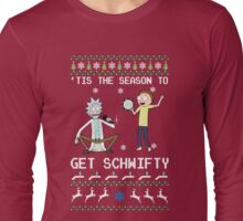 'Tis the season to get schwifty Rick & Morty Ugly Sweater Long Sleeve T-Shirt