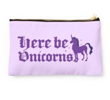 here be unicorns Studio Pouch