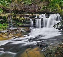 Dunloup Falls by Kenneth Keifer