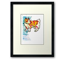 space speckled manx cat Framed Print