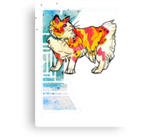 space speckled manx cat Canvas Print
