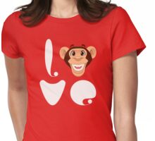 Love Monkey Womens Fitted T-Shirt