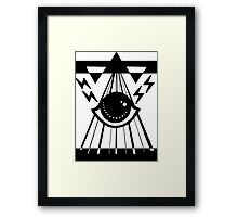 dark psychic attack Framed Print