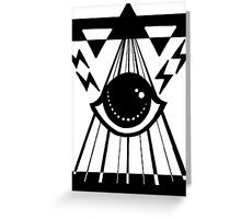 dark psychic attack Greeting Card