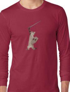 Heroic Warrior Knight Cat Long Sleeve T-Shirt