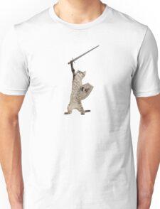 Heroic Warrior Knight Cat Unisex T-Shirt