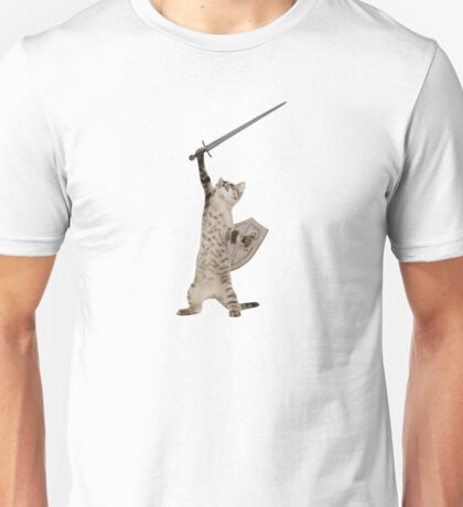 Heroic Warrior Knight Cat Unisex T-Shirt