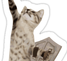 Heroic Warrior Knight Cat Sticker
