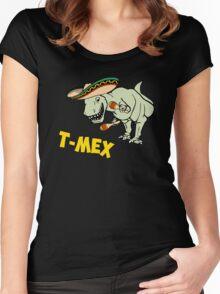T-Mex T-Rex Mexican Tyrannosaurus Dinosaur Women's Fitted Scoop T-Shirt