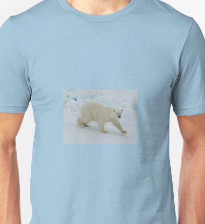 Polar Bear Prowl Unisex T-Shirt
