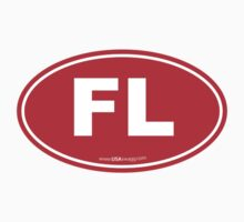 Florida FL Euro Oval RED Kids Clothes