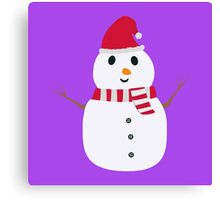 Chirstmas Snowman with winterscarf Canvas Print