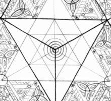 "Tetrahedron ""the old empire"" Sticker"
