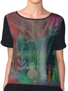 adventure in the forest Chiffon Top