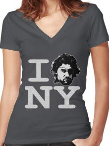 I ESCAPE NY Women's Fitted V-Neck T-Shirt