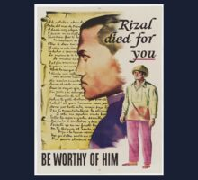 Vintage poster - Rizal died for you Baby Tee