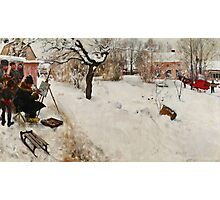 Winter Motif - Plein Air  Photographic Print