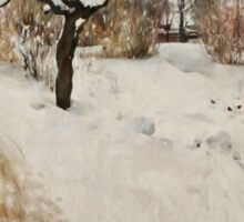 Winter Motif - Plein Air  Sticker
