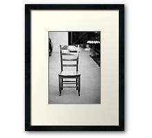 Empty chair Framed Print