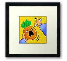 Pineapple Pen Framed Print