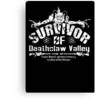 Deathclaw Valley Survivor (White) Canvas Print