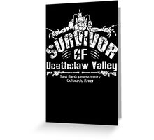 Deathclaw Valley Survivor (White) Greeting Card