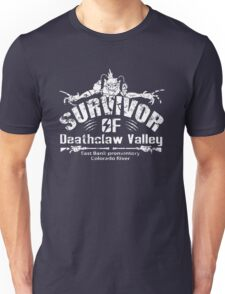 Deathclaw Valley Survivor (White) Unisex T-Shirt
