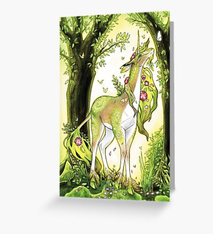 Unicorn - Heart of the Forest Greeting Card