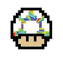 Trippy 8-Bit Mushroom Photographic Print