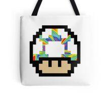 Trippy 8-Bit Mushroom Tote Bag