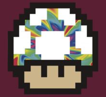 Trippy 8-Bit Mushroom by AlyssaMage