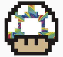 Trippy 8-Bit Mushroom One Piece - Short Sleeve