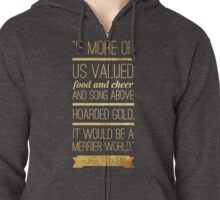 Tolkien Quote Zipped Hoodie