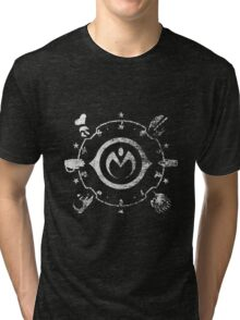 Jojo - Morioh Stands (Rust White) Tri-blend T-Shirt