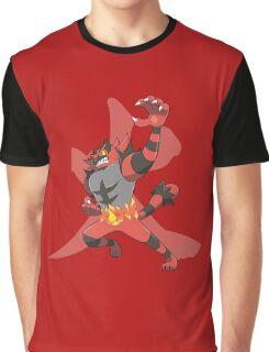 Incineroar With Fire kanji Graphic T-Shirt