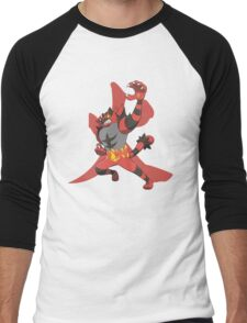 Incineroar With Fire kanji Men's Baseball ¾ T-Shirt